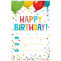 Happy Birthday Painted Palette Certificates