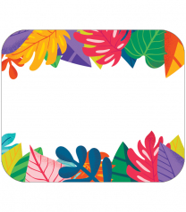 Colourful Leaves Name Tags