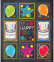 Twinkle Chalkboard Birthday Reward Stickers