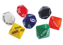 Place Value Jumbo Foam Dice - Set of 7