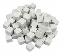 Blank White Dice 1.6cm - Set of 100