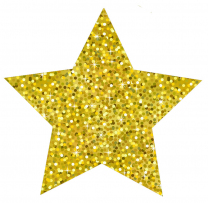 Gold Sparkle Stars Magnetic Accents