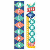 Make Today a Good Day / Welcome Retro Banner
