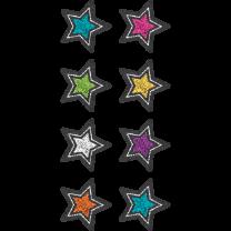 Chalkboard Brights Stars Spot Stickers