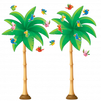 Tropical Palm Trees Bulletin Board