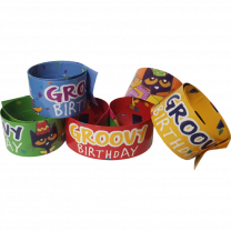Pete the Cat Birthday Slap Wristbands