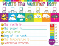 Weather Write-on Wipe-off Chart
