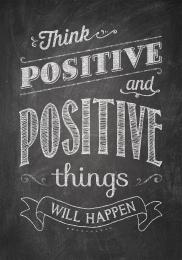 Think Positive-Chalkboard Poster