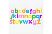 Translucent Rainbow Letters