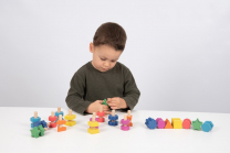 Rainbow Wooden Nuts and Bolts - Pack of 21