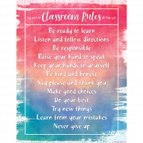 Classroom Rules Watercolour Chart