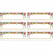 Confetti Gold Magnetic Labels