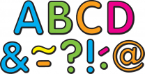 Neon Brights Magnetic Letters