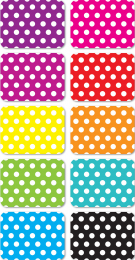 Colour White Dots Magnetic Mini Whiteboard Erasers - Pack of 10