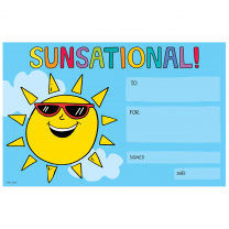 Sunsational! Certificates