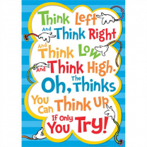 Dr. Seuss Think Left Think Right Poster