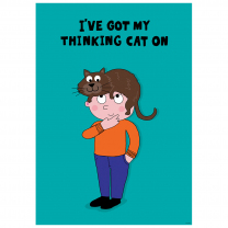 Thinking Cat Poster