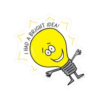 I had a bright idea Badge Stickers