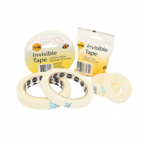 Marbig Invisible Tape - 18mm x 66m (76.2mm core)