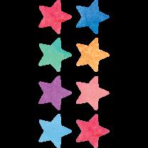 Watercolour Stars Spot Stickers