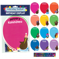 Te Reo Birthday Balloons Accent Cards