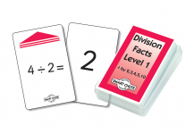Division Facts Level 1 Smart Chute Cards