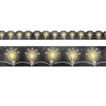 Lightbulbs on Chalkboard Trimmer
