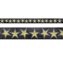 Gold Stars on Chalkboard Trimmer