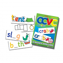 CCVC/CVCC Magnetic Word Strips