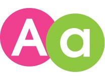 Happy Alphabet Lettering - 10cm