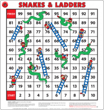 Snakes and Ladders Floor Game
