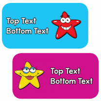 Super Stars Personalised Stickers