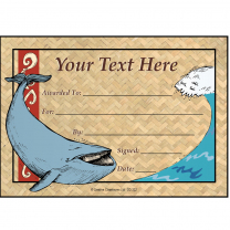 Whale Personalised Certificates
