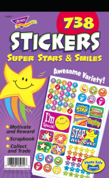 Super Stars and Smiles Sticker Value Pad