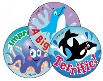 Sea Animals Stinky Stickers (Blueberry)