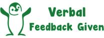 Verbal feedback given-penguin Stamp