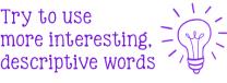 Descriptive Words Stamp