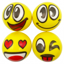 Emoji Yellow Squeeze Balls - Pack of 4