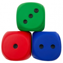 Jumbo Foam Dot Dice - Set of 3