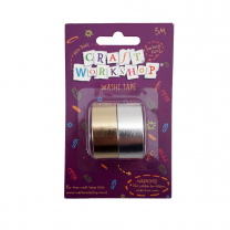 Silver & Gold Washi Tape - 2 rolls
