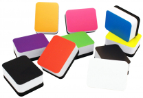 Colourful Magnetic Mini Whiteboard Erasers - Pack of 10