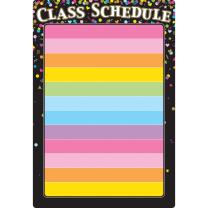 Confetti Class Schedule Write and Wipe Chart