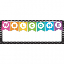 Welcome Dots Write and Wipe Banner