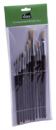 Assorted Artist Brushes - Pack of 12