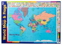 World Map Flags Wall Chart