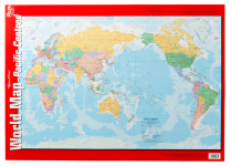 World Map Pacific Wall Chart