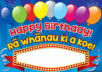 Happy Birthday! Te Reo Certificates