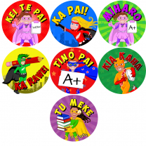 NZ Superhero Kids Te Reo Stickers