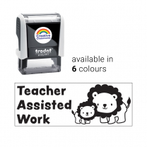 Teacher Assisted Work Lion Stamp