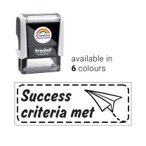 Success Criteria Met Dart Stamp
